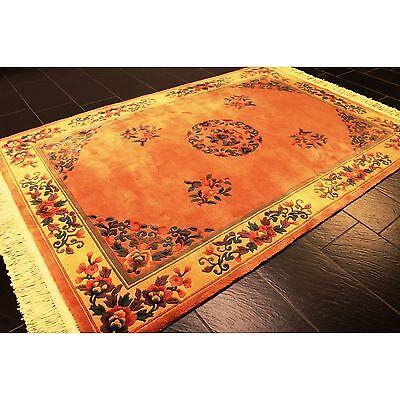 Feiner Handgeknüpfter Orient Blumen Teppich China Art deco Rug Carpet 250x170cm