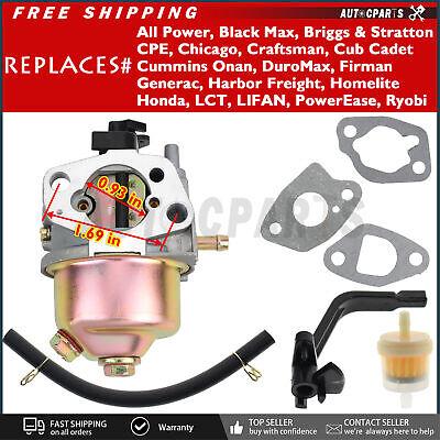 Carburetor For Powermate Pm0103008 Pc0103008 3000 3750 Watt 212cc Gas Generator
