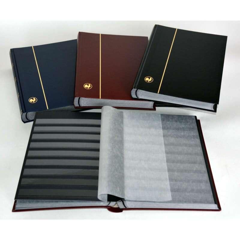 GOLDHAHN-Luxus-60 schwarze Seiten A4 Briefmarkenalbum Einsteckbuch