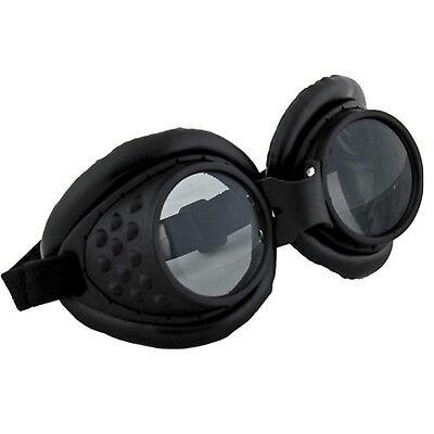 Radioactive Aviator Mad Max Apocalypse Scientist Costume Goggles Black - Radioactive Costume