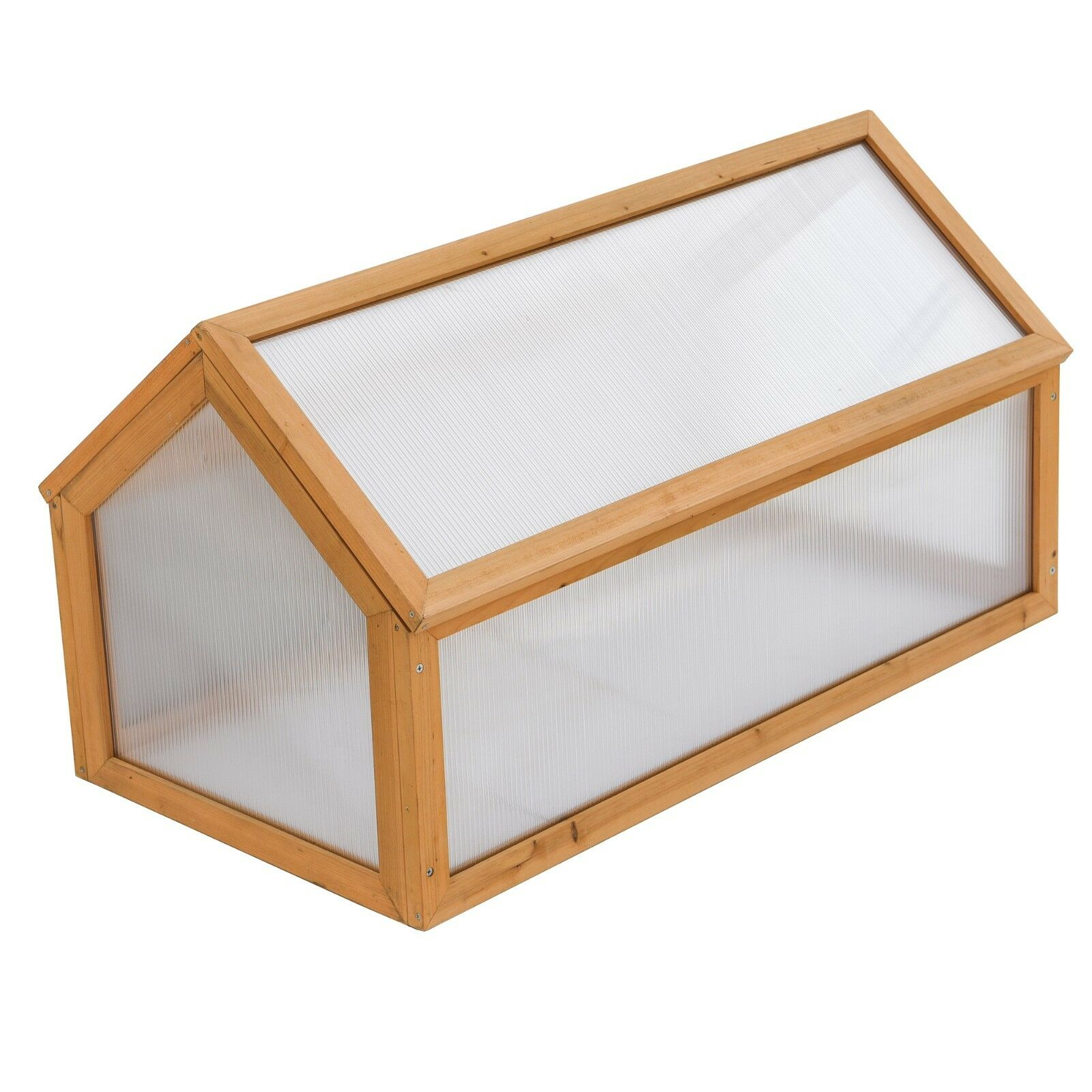 Cold Frame Polycarbonate Wooden Greenhouse Outdoor Shelter Plants ...