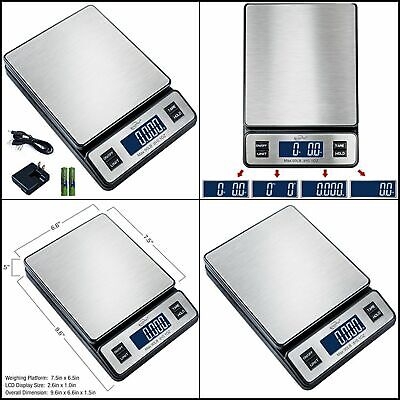 Digital Postal Scale Multi Measuring Units Usb Cable Up To 90lb For Homekitchen
