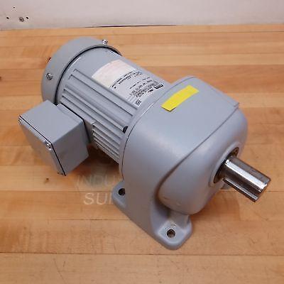 GTR G3L28N050-UTM040WAX 3 Phase Induction Motor 400 Watt 4 Pole 50:1 Ratio