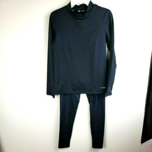 Tek gear base layer pant shirt set boys size Medium M 10/12 dry TEK