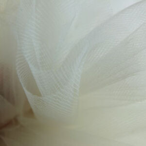 Ivory Off White bridal tulle veil fabric 300cm wide -  fine net - by the metre