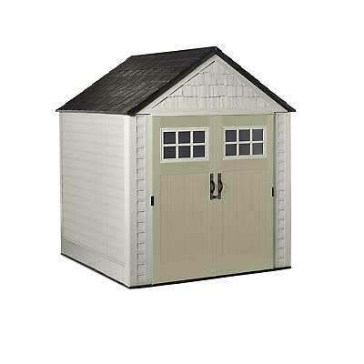 Rubbermaid 7x7 Ft Weather Resistant Resin Outdoor Storage Sh