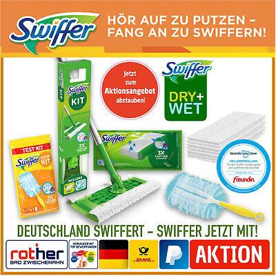 Swiffer Bodenwischer Wischmop Starter-Set Dry + Wet Wisch-Set + Staubmagnet