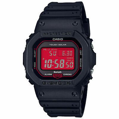 New Casio G-Shock Solar Multi-Band 6 Black / Red Face Watch GW-B5600AR-1