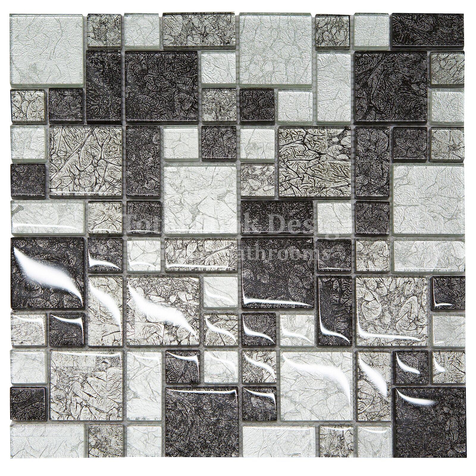 Hong Kong Black Silver Squares Mosaic