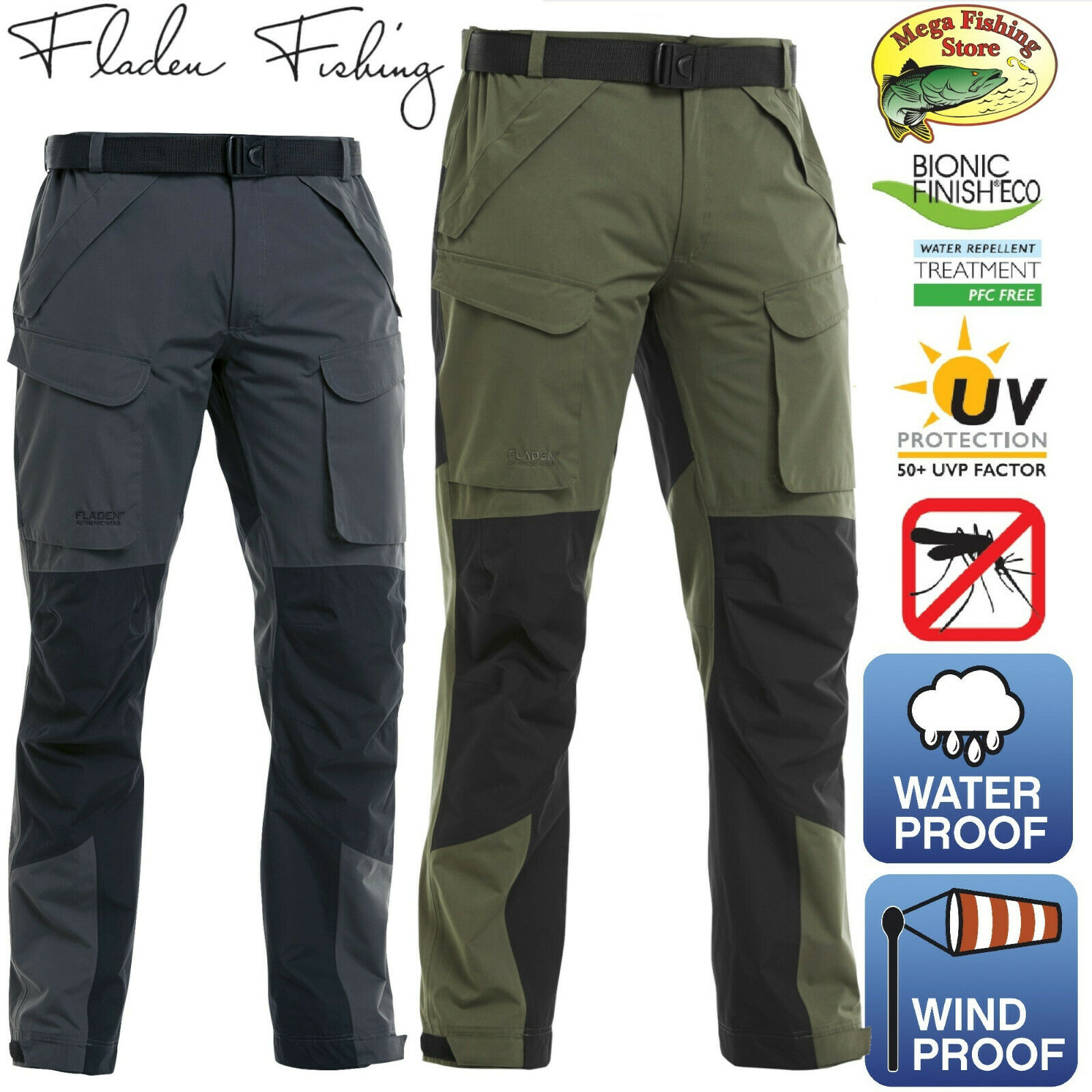 FLADEN Authentic 2.0 Allwetter Outdoor Hose - Jagd & Angelhose - Wasserdicht