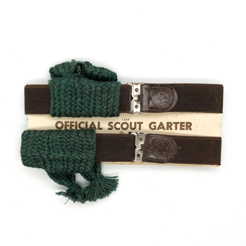NEW Official Scout Garter Boy Scouts of America BSA Uniform Socks Vintage