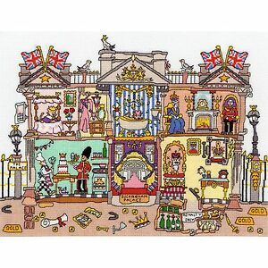 BOTHY THREADS CUT THRU BUCKINGHAM PALACE QUEEN 90th BIRTHDAY CROSS STITCH KIT