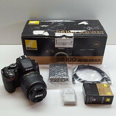 Nikon D5100 16.2 MP Digital SLR Camera Black Body w/ AF-S DX 18-55mm (T92)