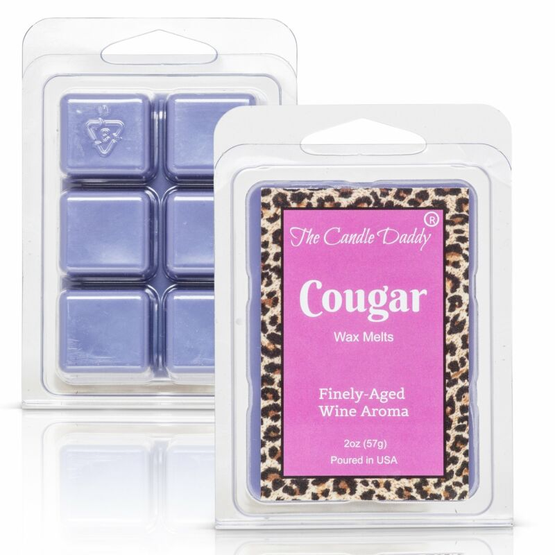 Cougar - Finely Aged Wine Scented Melt - Maximum Scent Wax Cubes/Melts - 1 Pack