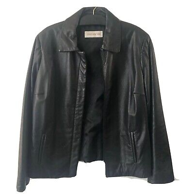 Women's Leather Jacket Sz  L Jones New York -  Great Condition