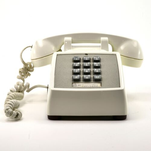 Vintage White Western Electric Touch desk telephone