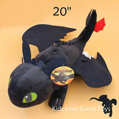 20'' How to Train Your Dragon Toothless Night Fury Stuffed Animal Plush Toy Doll (Toothless Nightfury)