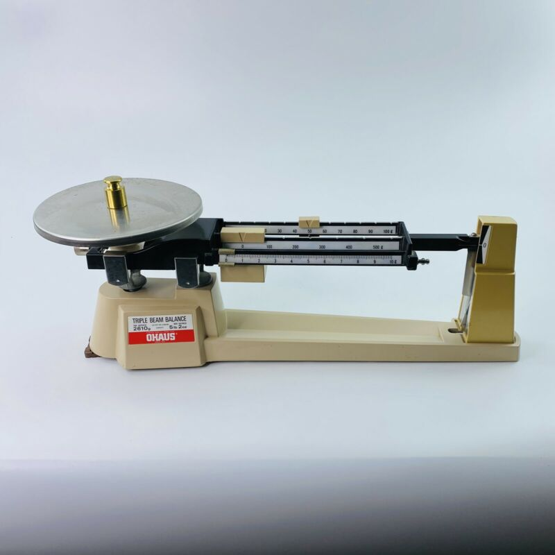 OHAUS Series 2610g Triple Beam Balance Scale