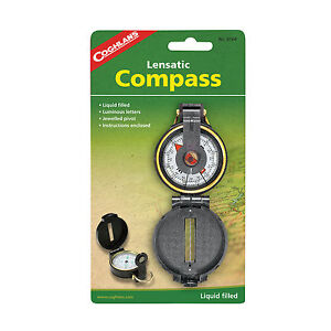Coghlan's Coghlans Lensatic Compass - Liquid Filled, Survival Camping - NEW!