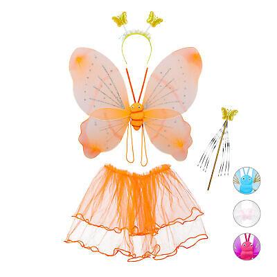 Schmetterling Kostüm, Kinderkostüm, Feenflügel, Zauberstab (Feenflügel Kind)