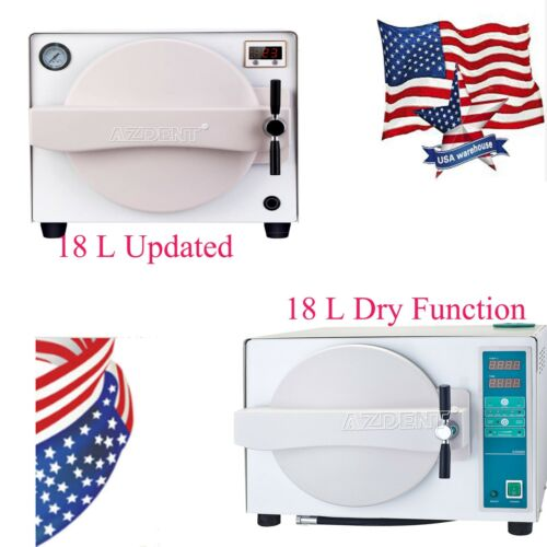 18L Updated /18 L Dental Steam Sterilizer Autoclave Medical With Drying Function