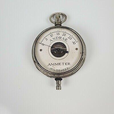 Vintage Andrea Pocket Ammeter Coil Gauge Meter Milwaukee Usa Untested