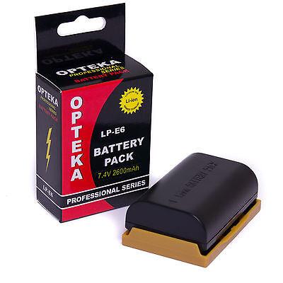 Opteka LP-E6 LPE6 Battery for Canon EOS 5DM2 5DM3 5D Mark II III 2 3 (2600mAh)