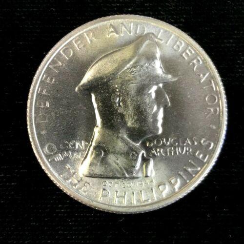 1947 S One Peso Philippines Gen. MacArthur Brilliant Uncirculated
