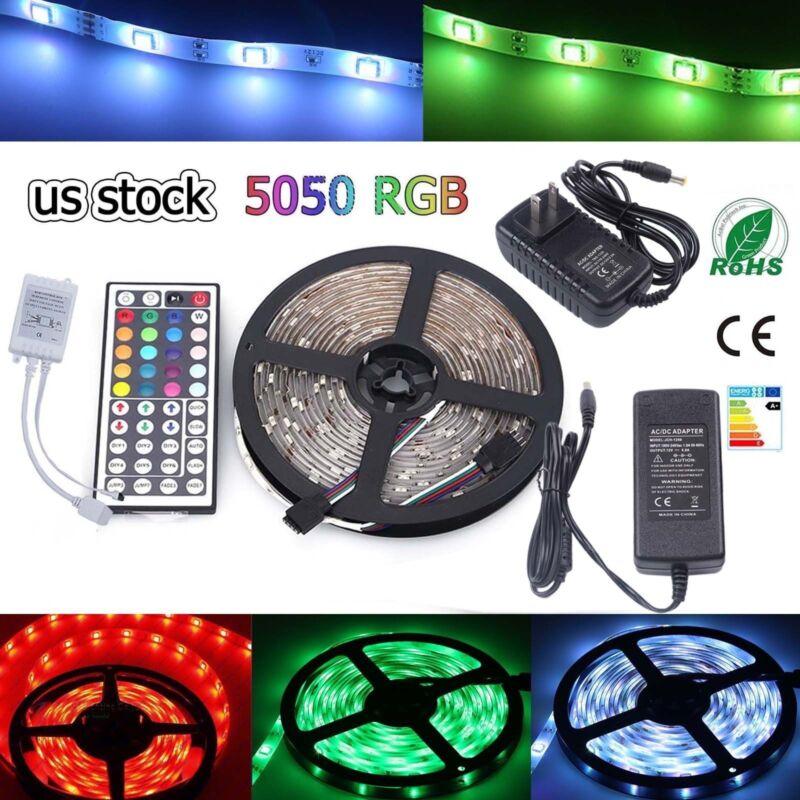 Multi-color 1M-30M LED Strip light RGB 5050 SMD 44 Key Remot