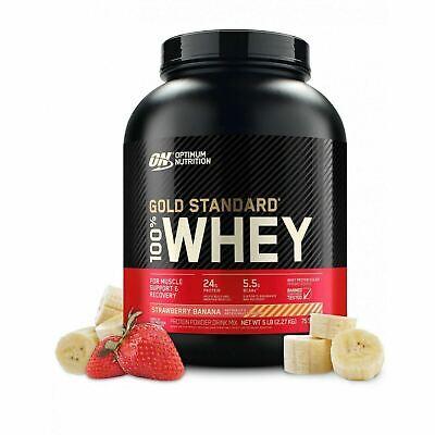 Gold Standard 100% Whey Protein Powder, Strawberry Banana, 24g Protein, 5 Lb
