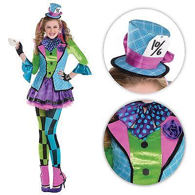 Mädchen Sassy Mad Hatter Teeparty Alice Wunderland Buch - Mädchen Mad Hatter Kostüm