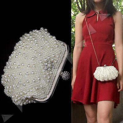 Perlen Clutch Handtasche (Brauttasche Clutch Perlen Tasche Abendtasche Handtasche Hochzeit Perle Shell)