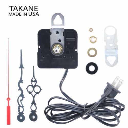 Made in USA Takane Electric 110V Clock Movement Kit with Hands, Multiple Sizes