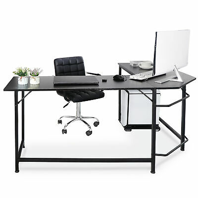 Modern L-shaped Desk Corner Computer Desk Pc Laptop Study Table Workstation Home
