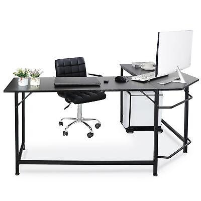 66 L-shaped Desk Corner Computer Desk Pc Laptop Study Table Workstation Home