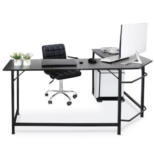 66″ L-Shaped Desk Corner Computer Desk PC Laptop Study Table Workstation Home Furniture