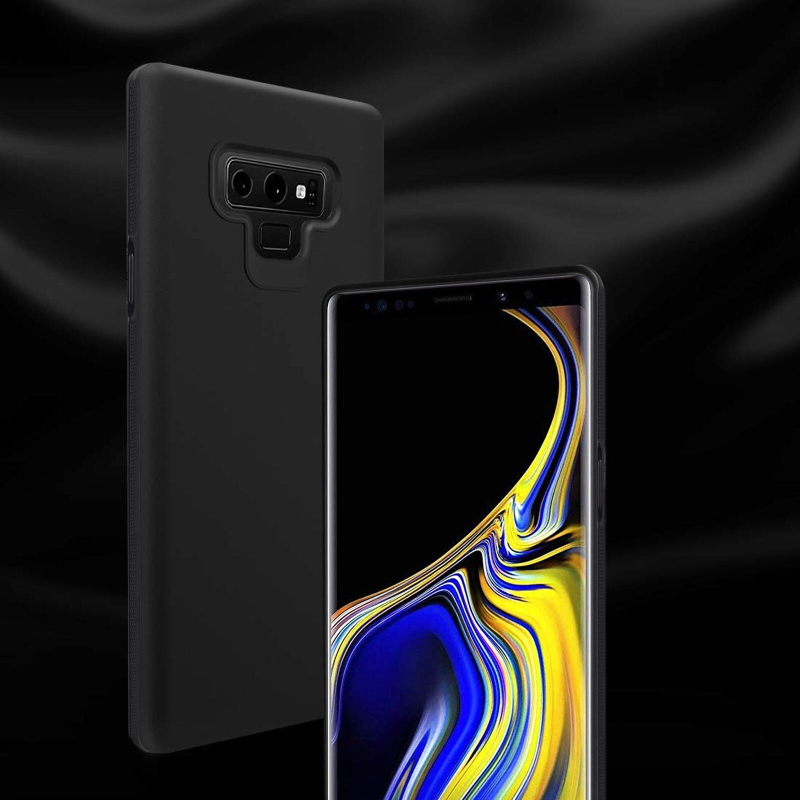 for Samsung Galaxy Note 9 Case, Black Slim TPU Shockproof Co