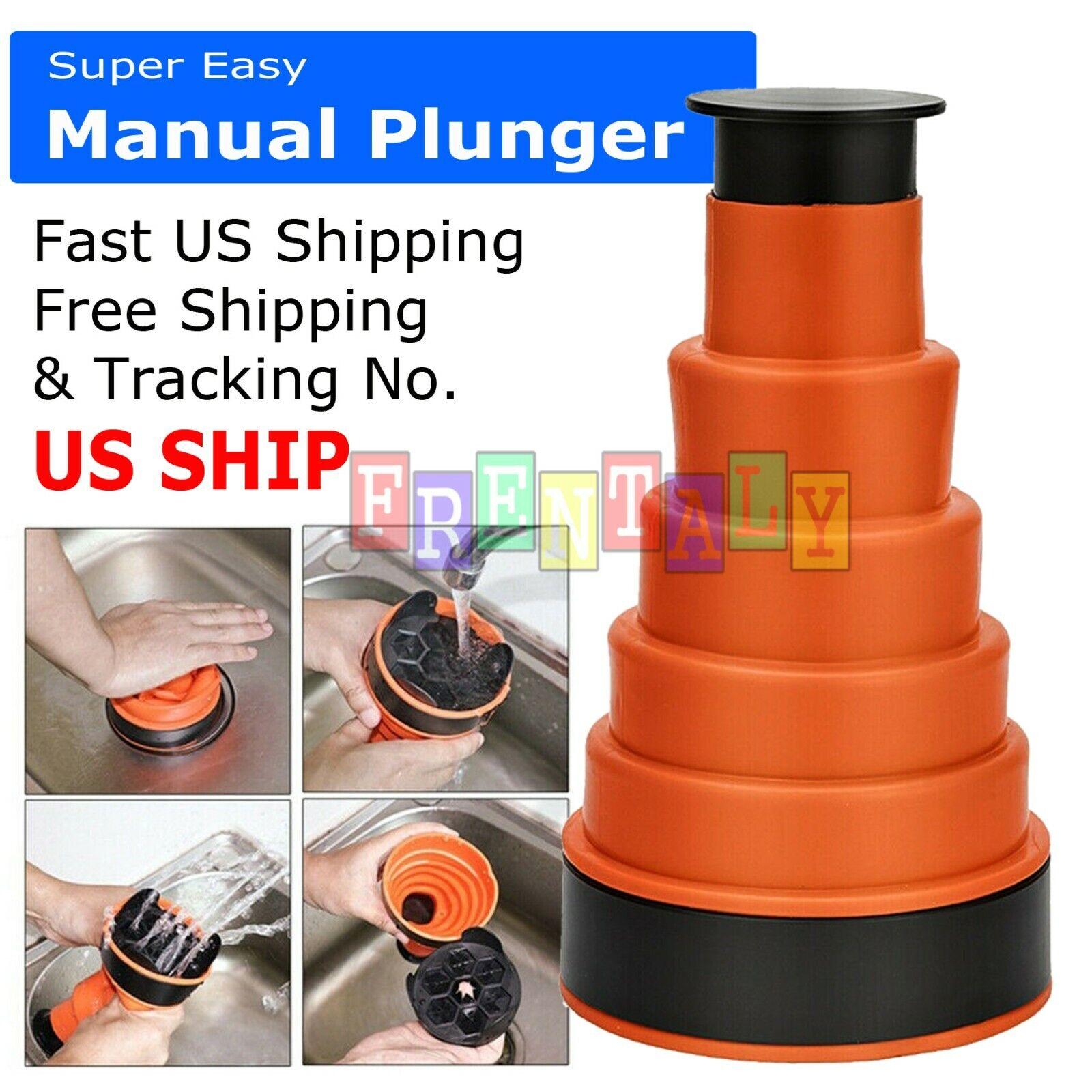 Drain Blaster Air Pump Sink Toilet High Pressure Plunger Clo