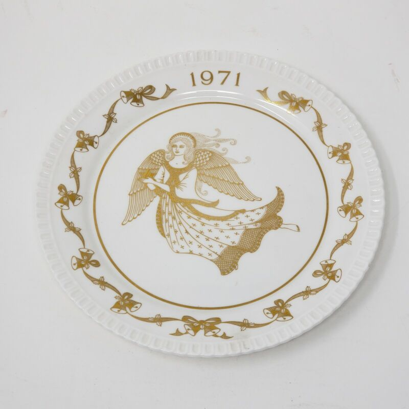 VINTAGE SPODE 1971 BONE CHINA CHRISTMAS ANGEL PLATE LIMITED EDITION