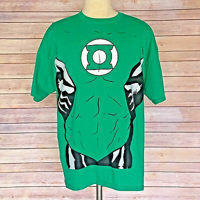 Adult Male Green Lantern Super Hero Tee Shirt by Rubies Size XL  ()