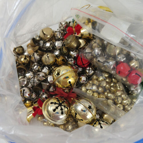 Craft Bells Over 200 Large Lot  Various  Sizes Christmas Costumes Sewing