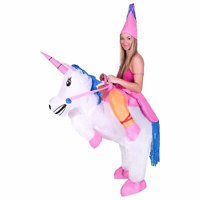 Adult Inflatable Unicorn Ride Me Carry On Costume Outfit Suit Halloween One - Unicorn Costume Halloween