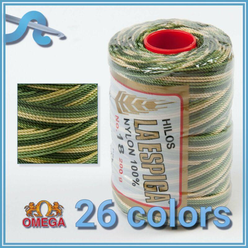 Espiga No.18 [Variegated] - 100% Nylon Omega Cord Thread for Knitting and Croche