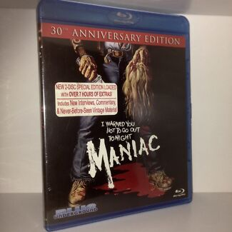 MANIAC: 30th Anniversary Edition Blu-ray (2-Discs) RARE OOP Horror