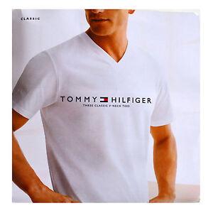 tommy hilfiger mens undershirts 3 pack classic v neck t. Black Bedroom Furniture Sets. Home Design Ideas