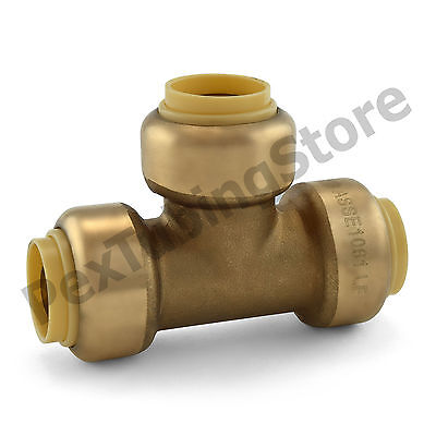 10 12 Sharkbite Style Push-fit Push To Connect Lead-free Brass Tees