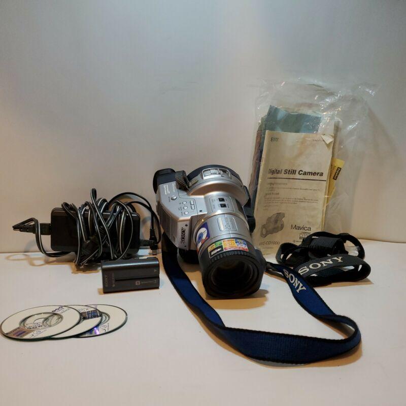 Sony Mavia mvc-cd1000 camera with 3 blank disc