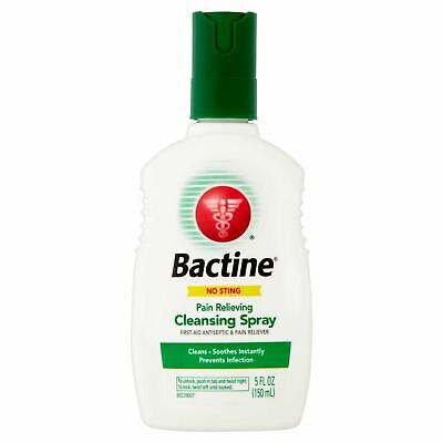 NEW Bactine Pain Relieving Cleansing Antiseptic Spray - 5 Fluid Ounces (150 ml) Pain Relieving Antiseptic