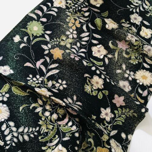 Madam #B 14x61 LONG Vintage Japanese Kimono Fabric Panel Authentic RE9