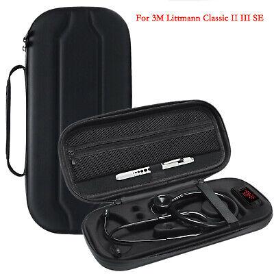 Portable Stethoscope Storage Case Carring Bag For 3m Littmann Classic Ii Iii Se